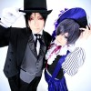 Sebastian (Reika) e Ciel - Kuroshitsuji